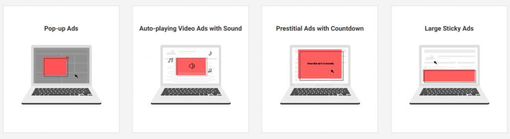 Виду рекламы, которые не любят Гугл и Яндекс