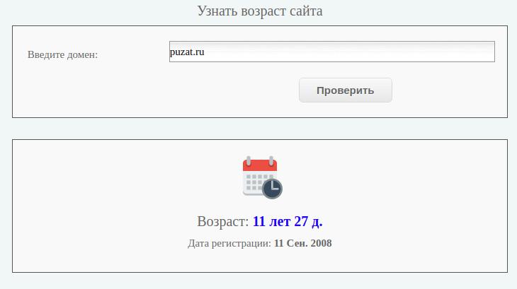 Определение возраста домена через Site Spy