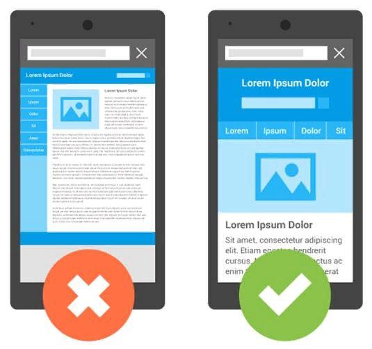 Примеры представления сайта на экране устройства